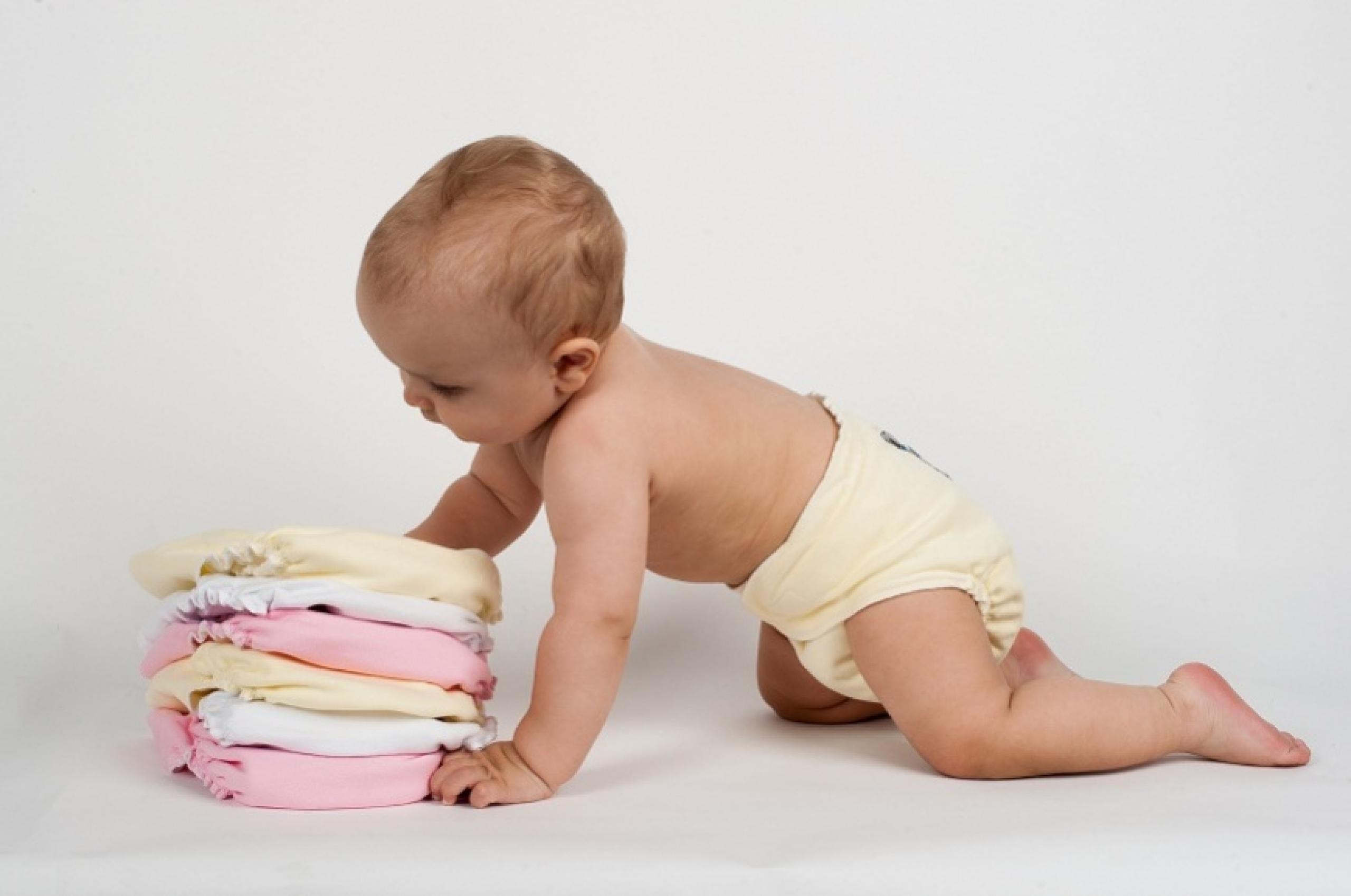 Памперс на ребенке фото